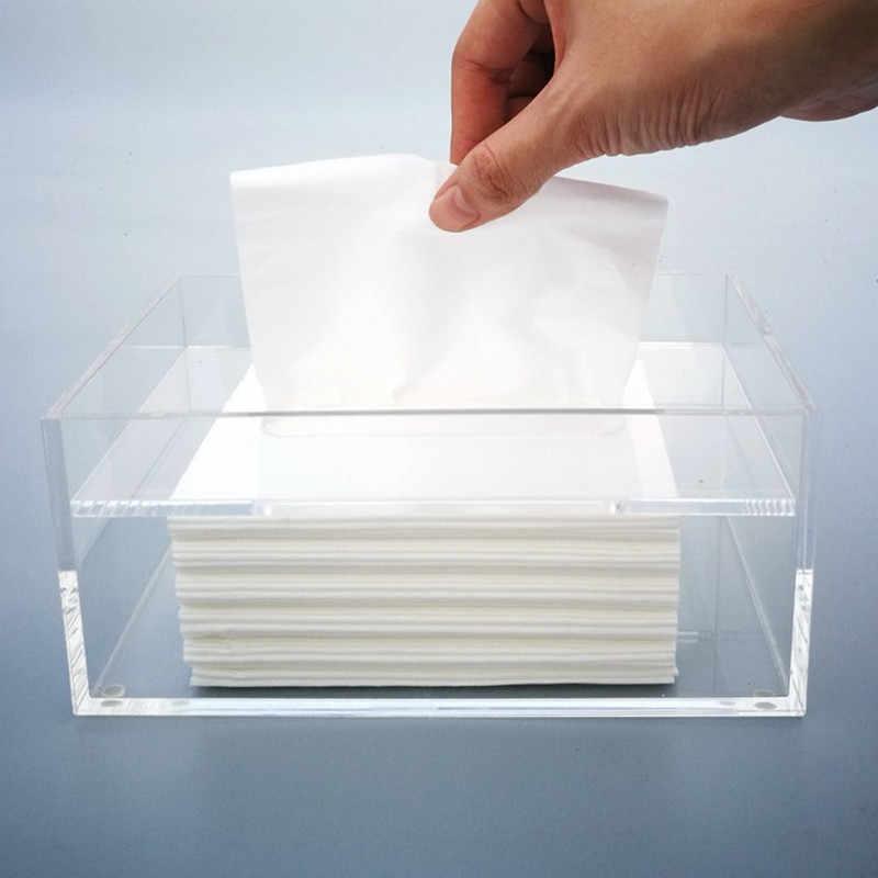 Rectangle Tissue Box Cover Holder Paper Box Bathroom Storage Car Office Decor T