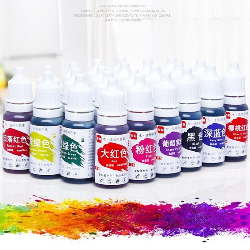 US $0.87 41% OFF|1PC 13 colour 10ML Macaron Cream Food Coloring Ingredients  Cake Fondant Baking Cake Edible Color Pigment Baking And Pastry Tools-in ...