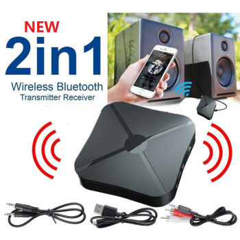 2in1 Wireless Bluetooth 4.2 Audio Transmitter Receiver HIFI Stereo Music Adapter RCA AUX image