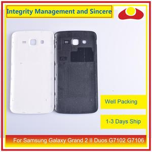 Image 4 - オリジナルサムスンギャラクシーグランド 2 II デュオ G7102 G7106 ハウジングバッテリードア背面バックカバーケースシャーシシェル交換