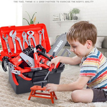 New 54pcs Garden Tool Toys Kids Pretend Play Toolbox Set Simulation Drill Screwdriver Repair Tool Kit House Play Toys Gifts