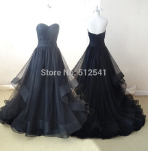 Actual Images Sweetheart A Line Wedding Dresses Cheap Pleat Ruffle Sweep Train Custom Made Bridal Gowns yk1A128
