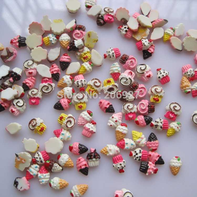 #47 30pcs Cute Mix Cartoon Shape Nail Resin Decoration Outlooking