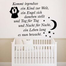 Cute Lion Moon stars Diy Engel sich tag Vinyl Wall Stickers Wallpaper For Kids Rooms Home Party Decor