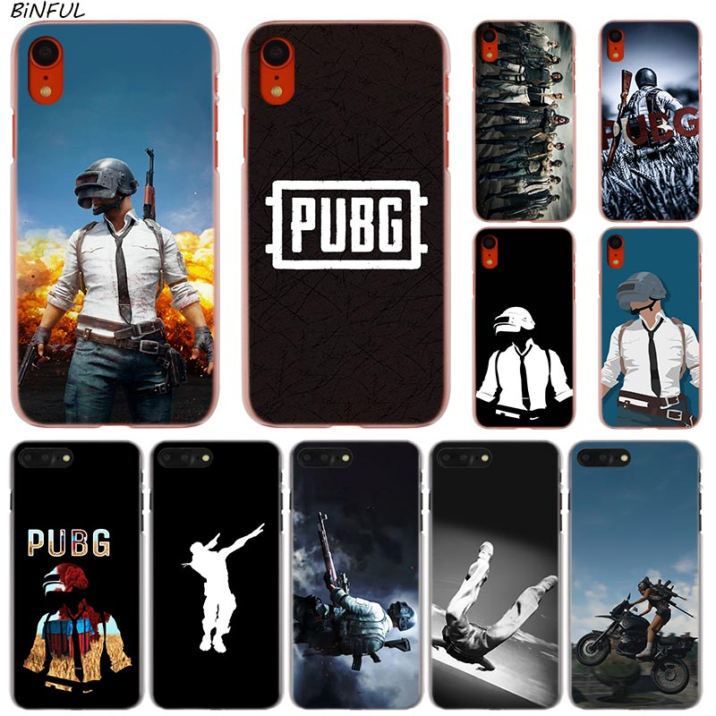 the latest b0f1f 0c790 US $1.69 32% OFF game pubg Hot Fashion Transparent Hard Phone Cover Case  for iPhone X XS Max XR 8 7 6 6s Plus 5 SE 5C 4 4S-in Half-wrapped Cases  from ...
