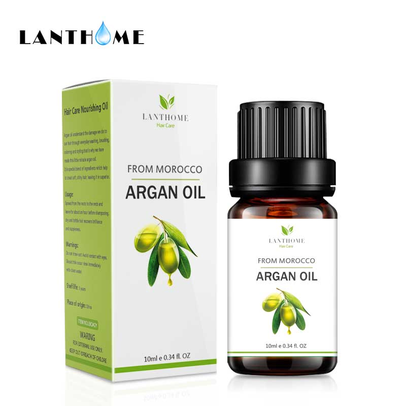 Lanthome Argan Oil Morocco Hair Oil for Dry and Damaged Hair Conditioner Repair Split Ends Moisturizing Hair Keratin Treatment