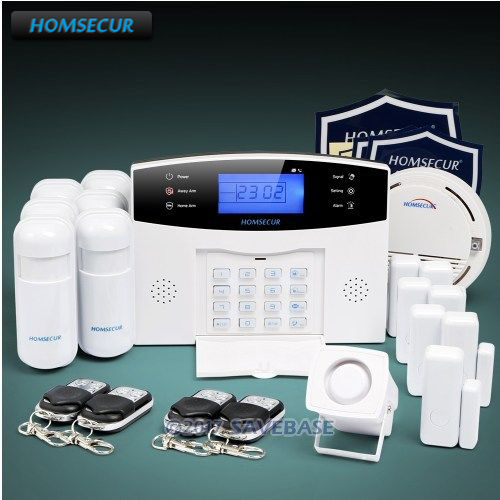 все цены на HOMSECUR Wireless&wired 433Mhz LCD GSM 850/900/1800/1900 Burglar Alarm System with Smoke Sensor (Available shipment from EU) онлайн