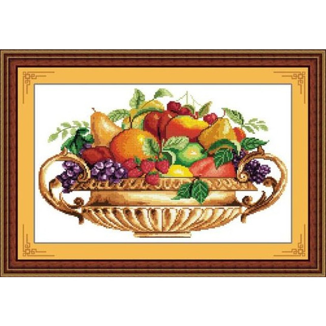 aliexpress com buy fruit basket diy counted full cross stitch kit