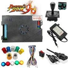 цена на Pandora's Box 9D Arcade Console 2222 in 1 Copy Sanwa Joystick 8 Button Led Tube 2 Player Controller Retro Games for home TV