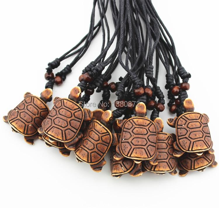 Cool Boy Men S Hand Carved Yak Bone Sea Turtle Pendant Adjustable