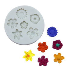 1PC Sunflower Flower Shape Silicone Mold Chocolate Fondant Cake Decoration Kitchen Baking Tools LB 602