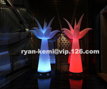 2 m de altura con el cambio de Color LED iluminación inflable tulip decorativo inflables flor para boda Fiesta club bar noche Decoración