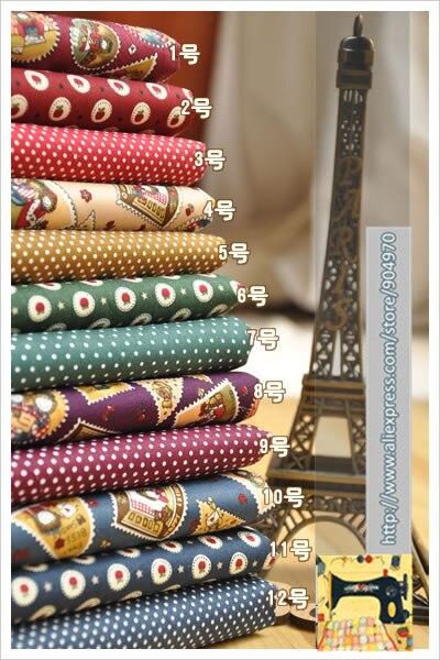 Zy diy selección lindo polka dot apple algodón popelín para coser textiles para