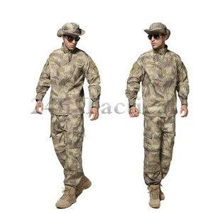 US Army Desert Tactical wojskowy kamuflaż umundurowanie bojowe Airsoft Camo BDU mężczyźni odzież zestaw Outdoor polowanie garnitury S-XXXL