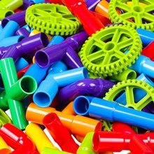 Water Pipe Tunnel With Wheels Diy Kids Educational Toy Tube Train Early Education Toys