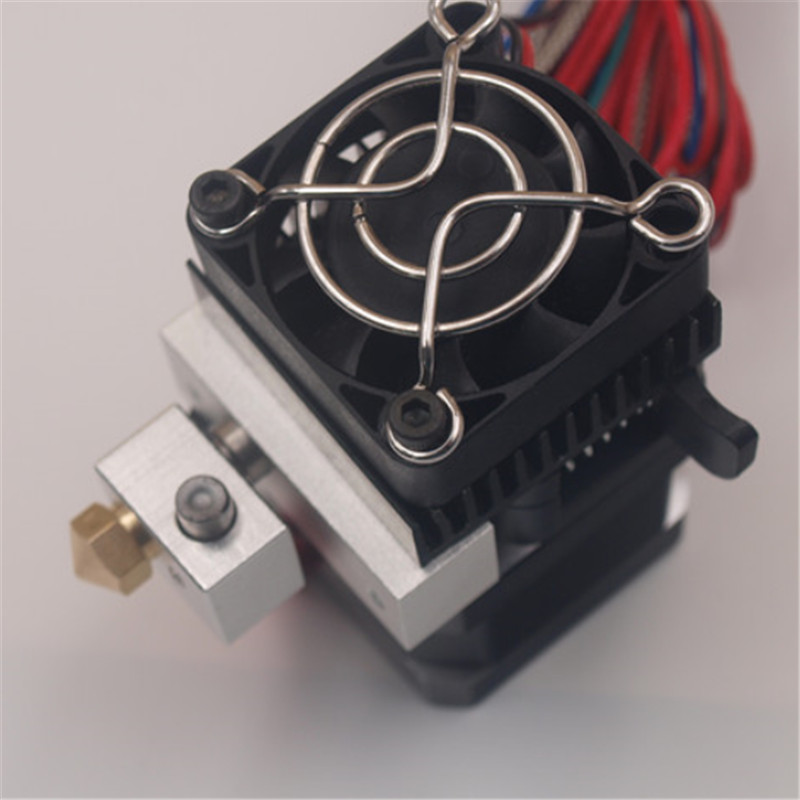 Funssor assemble MK10 extruder printing head kit 1.75mm extrusion set with NEMA17 stepper motor for Reprap Prusa/Wanhao 12/24V