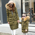 Family fitted 2016 winter Jacket Women Down jackets women's medium-long  thickening down outerwear coat  large fur collar