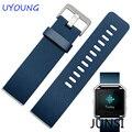 Caucho de silicona watch band correa para la muñeca + marco de metal de lujo para fitbit incendio smart watch reemplazo