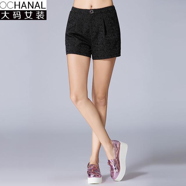 2017 tamanho grande feminino curtas das mulheres botas de inverno novos calções perna larga Fino plus size shorts mulheres