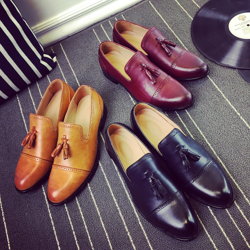 New Loafers Men Oxford Flat Shoes Top Brand Men Moccasins Shoes Wedding Leather Men Shoes Casual Zapatos Hombre P165