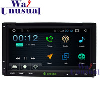 6.95 2DIN Android 6.0 Auto GPS Navigation For Universal Radio Stereo with GPS+WIFI+BT+DVR+Mirror link+Quad core 16GB+3G+800*480