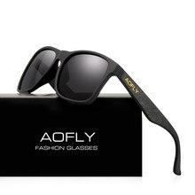 AOFLY ยี่ห้อออกแบบแว่นตา Night Vision แว่นตากันแดด Polarized ผู้ชายสีเหลือง Anti Glare VINTAGE ขับรถดวงอาทิตย์แว่นตาแว่นตา UV400