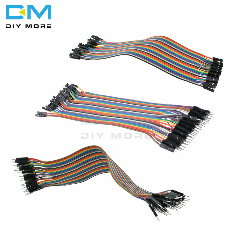 3 tipos 40 Uds 20CM 2,54mm Cable Dupont macho hembra colorido Dupont Cable para Arduino