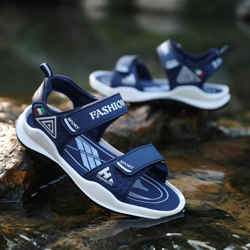 Summer 2019 Boys Sandals Suitable For 7-10-15 Years Old Children's Sandals Kids Non-slip Shoes Children TPR Rubber Sole Sandal
