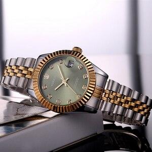 Image 3 - TORBOLLO frauen Armbanduhren Luxus Silber Rosa Zifferblatt Quarz Weiblichen Uhr Diamant Auto Datum Mode Damen Armbanduhr Neue Top