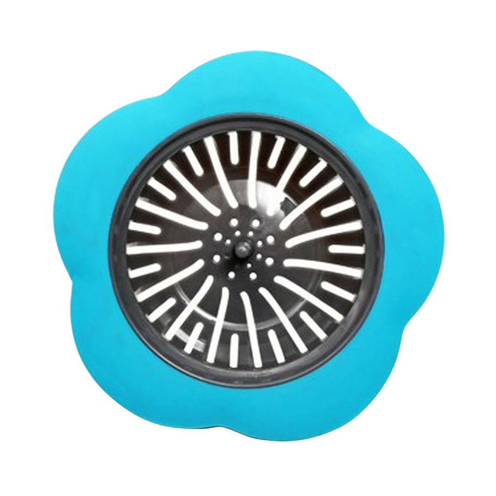 Flower Shaped Silicone Sink Strainer Shower Sink Strainer Floor Drain Anti-clogging Filter 4