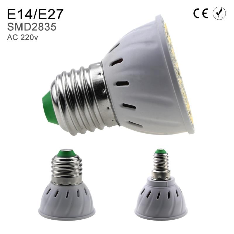 2PCS GU10 Led Lamp GU5.3 MR16 Bombillas Led 220V E14 Home Led Light Bulbs B22 2835 E27 48 60 80leds Light Emitting Diode Lamp 8W