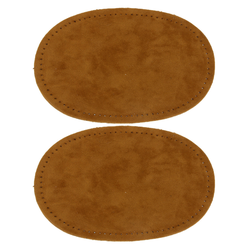 2 Suede SEW ON Patches Elbow pads  Knee patches suede BROWN  1 pair