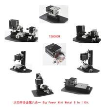 12000r/min 60W, All-Metal 8 in 1 Mini Lathe TZ8000M 8in 1 Metal lathe/Drilling,Milling,Sanding Machine