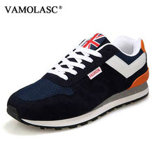 VAMOLASC New Men Sport Running Shoes Breathable Cotton Sneakers Lace-up Outdoor Walking Shoes Cushioning Athletic Shoes