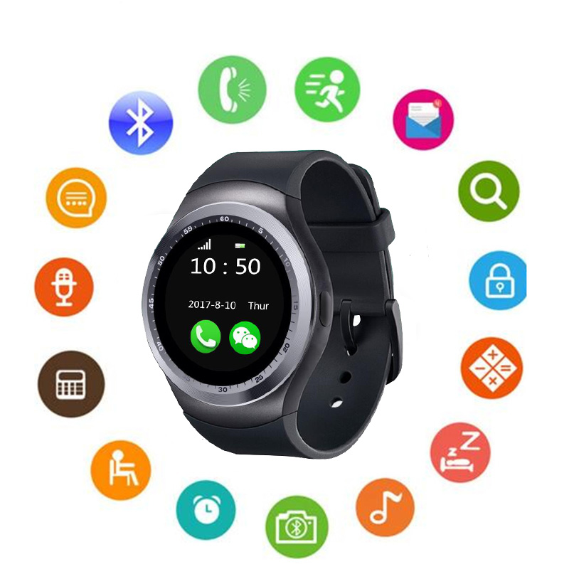 Watch Electronic 2019 New Stylish Y1 Smart Watch With Whatsapp And Facebook Twitter APP For Android Phone image