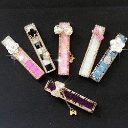 Wiatroodporny cichy zapalniczki ładowanie kreatywne prezenty Lady Rhinestone Diamond Arc zapalniczka ładowana na usb wiatroodporny Slim w Akcesoria do papierosów od Dom i ogród na