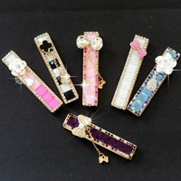 Windproof Silent Cigarette  Lighter Charging Creative Gifts Lady Rhinestone Diamond Arc USB Charging Lighter Windproof Slim