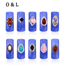 New Glitter Rhinestone Alloy Nail Art ,Mix 10pcs/lot Flowers Hollow Nail Jewelry Accessories,Charm 3d DIY Nail Decoration Tools
