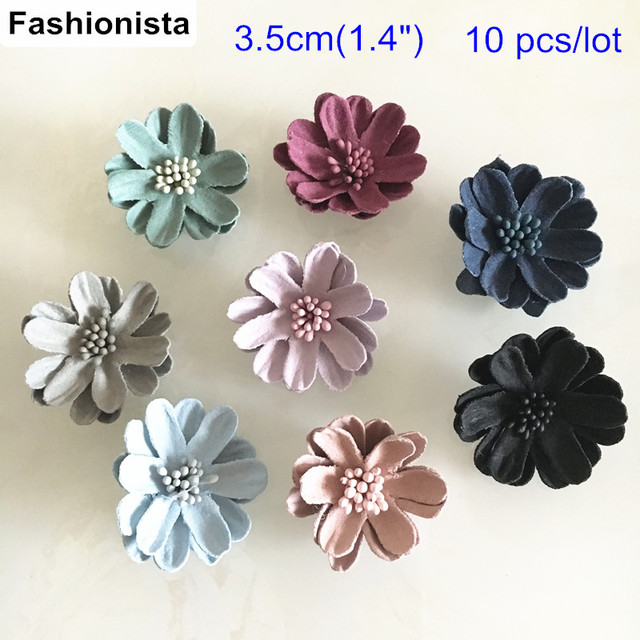 10 pcs 1 4 leather flower daisy applique flowers for Leather flowers for crafts