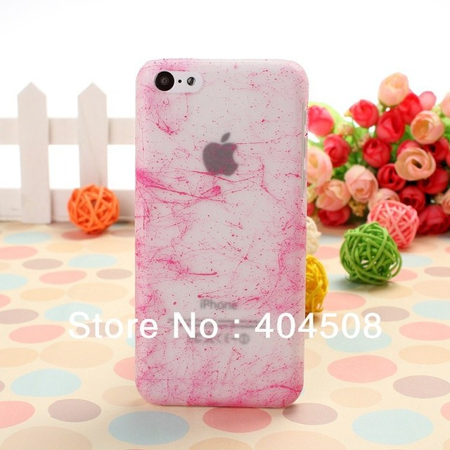 brand new 6 colors! hard back cover shell skin for iphone 5C silk pattern design mobile case matte cell phone case
