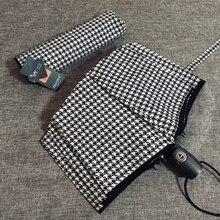 PALONY parapluie pliant automatique pour femmes, de marque authentique, résistant au vent, noir et blanc, 10K