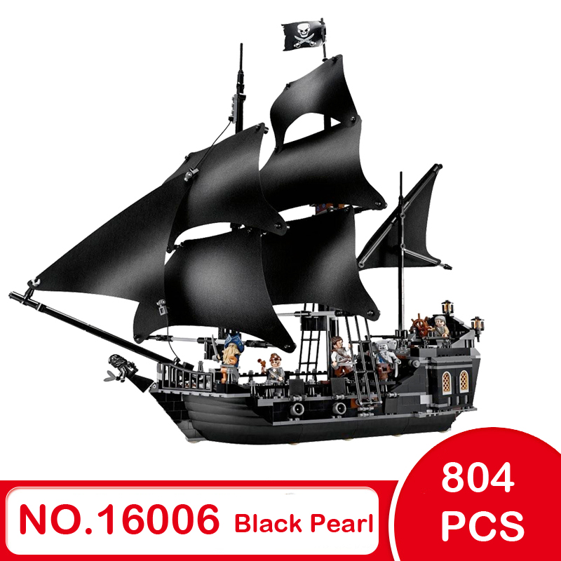lepin 16006 804pcs building bricks Pirates of the Caribbean the Black Pearl Ship model Toys Compatible with LEGOings hobbit 4184 lepin 16006 804pcs pirates of the