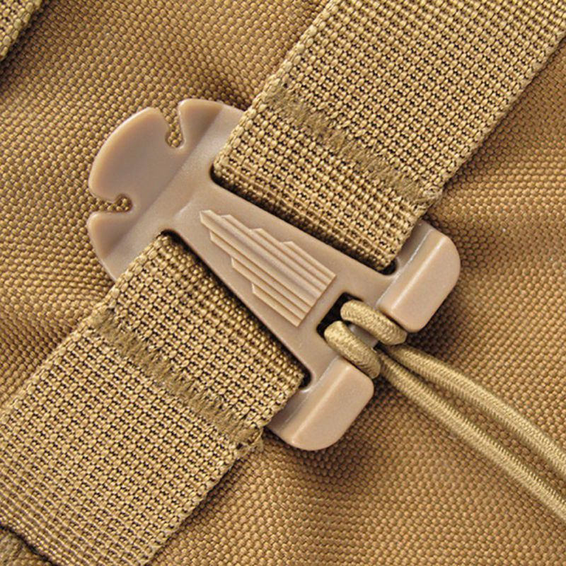 2pcs Outdoor Elastic Rope Triangle Fixing Clip Clamp Climbing Backpack Bag Molle Buckle Accessories