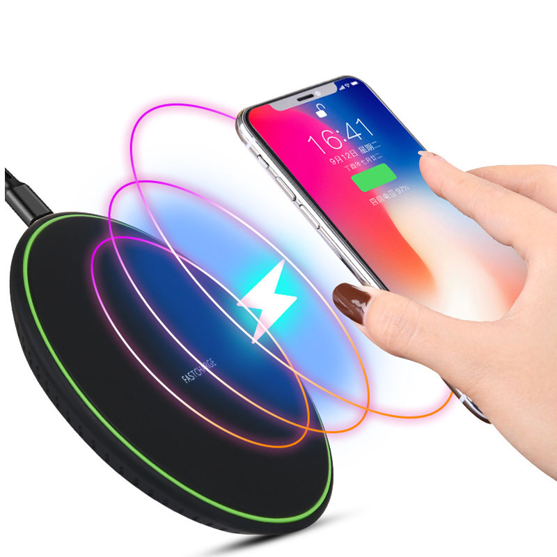 5w/10w Wireless Charge Qi Fast Charging Thin Round Pad Wireless Power Charger For Phones Dropship ATC KD 1|Mobile Phone Cables| |  - title=