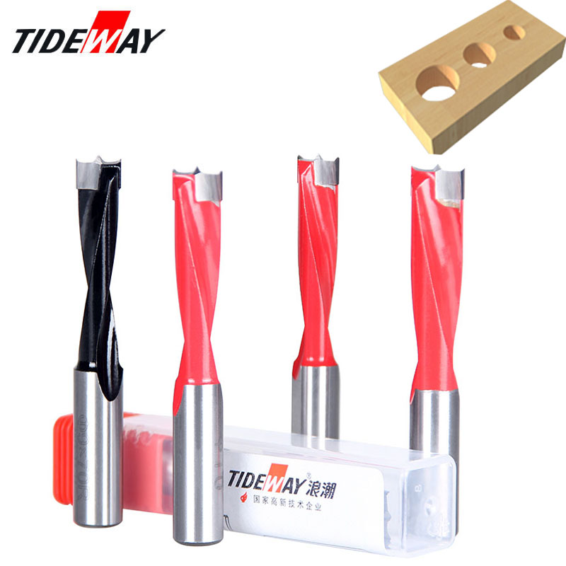 Tideway 4mm-17mm Wood Forstner Drill Bits Length 70mm Router Bit Row Drilling For Boring Machine Drills Wood Carbide Endmill