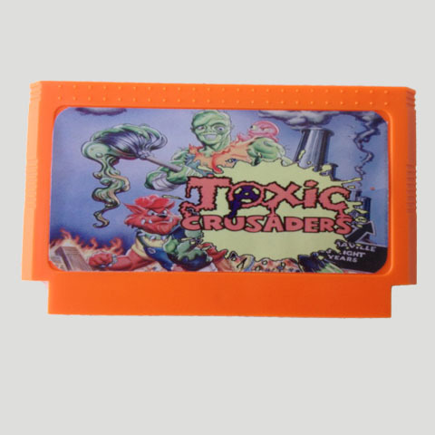 Top Quality Game Cartridge 60 Pins 8 Bit Integrated Game Card Better Than Bean Card — Toxic Crusaders