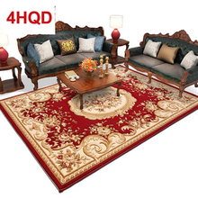 European style living room coffee table sofa carpet American minimalist bedroom bed thick encryption