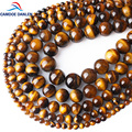 CAMDOE DANLEN Natural Gem Stone Yellow Tiger Eye Round Beads 6 8 10 12 14 16MM Fit Diy Charms Beads Jewelry Making Accessories