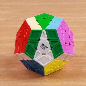 Image 3 - QIYI rompecabezas megaminxeds de 12 lados para niños, cubo mágico, velocidad sin pegatinas, juguete educativo
