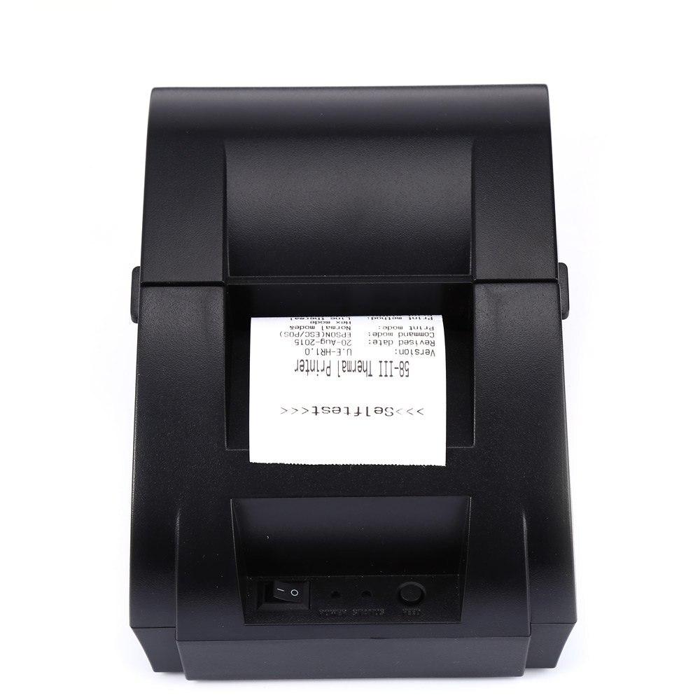 New zj 5890k mini 58mm usb port black and white printer Thermal windows reviews